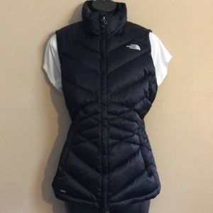 The north face goose down black vest 550